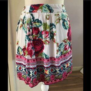 Forever21 Floral Boho Style Skirt, sz SP
